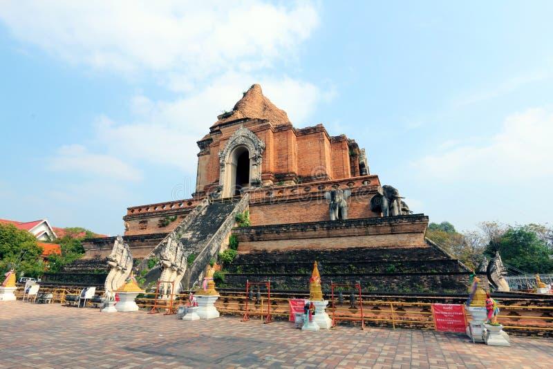 Duża stupa przy Watem Jedi Luang 1 zdjęcie stock