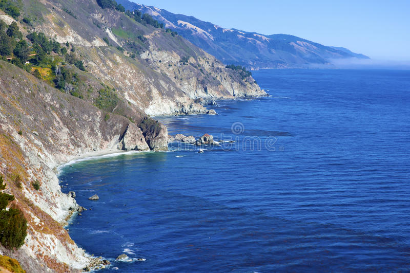 Duża Sura linia brzegowa Kalifornia obraz stock