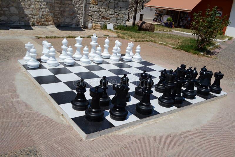 Duża szachowa deska zdjęcie stock