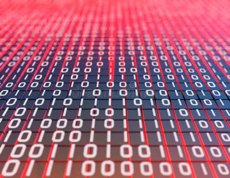 Duża transmisja i przechowywanie danych oraz macierz binarna, programowanie i struktura kodu, technologia internetowa fotografia royalty free