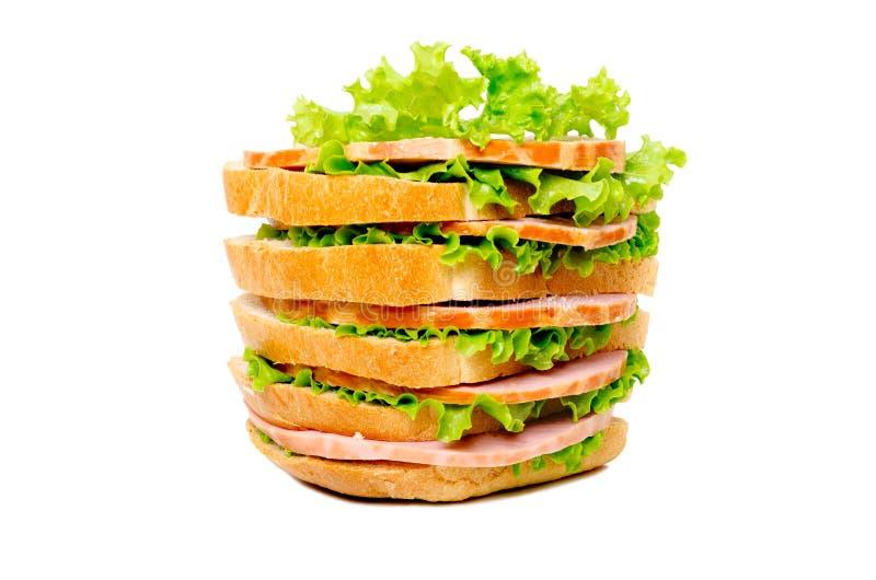 Duża wyśmienicie świeża kanapka obrazy stock