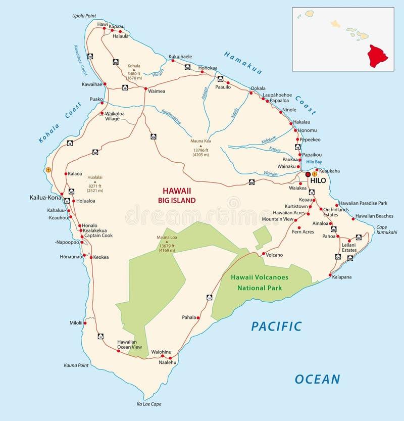 Duża wyspy mapa royalty ilustracja