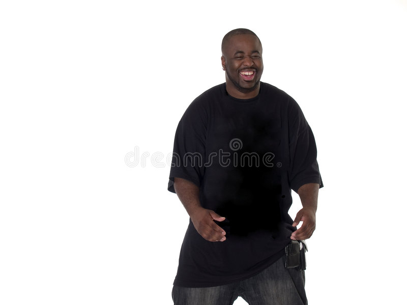 duże czarnego uśmiechu young fotografia stock