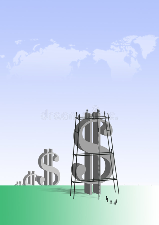 duże dolarów royalty ilustracja