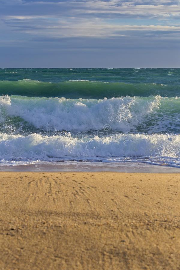 Duże fala od oceanu zdjęcia royalty free