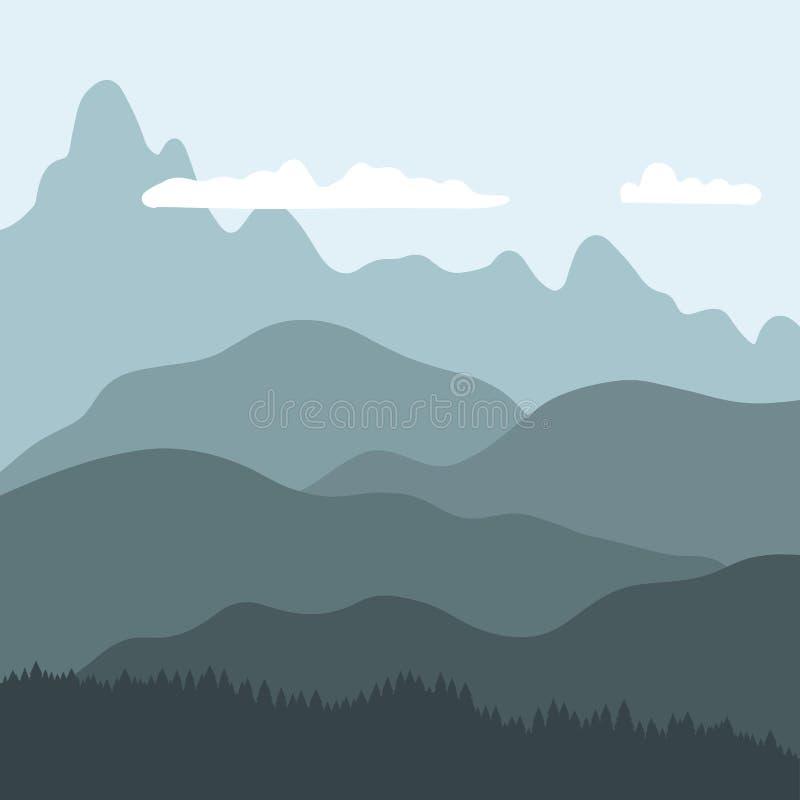 duże krajobrazowe halne góry ilustracja wektor