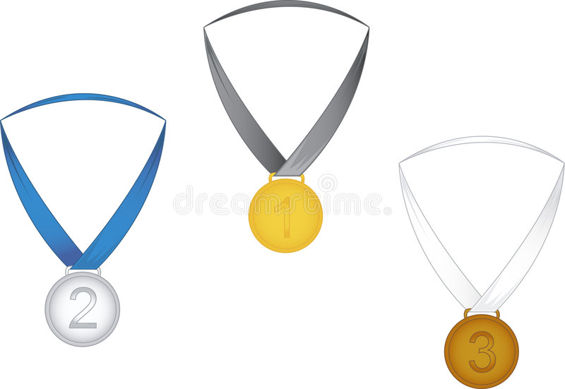 duże medale royalty ilustracja