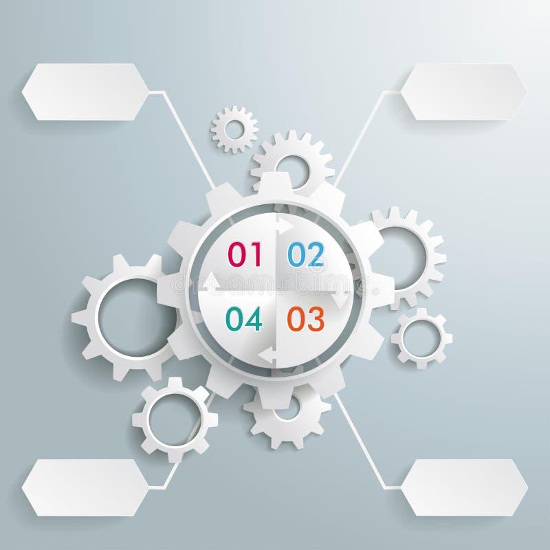 Duże przekładnia Maszynowego cyklu 4 opcje royalty ilustracja