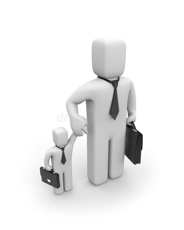 dużego interesu biznesów pomaganie mały ilustracji