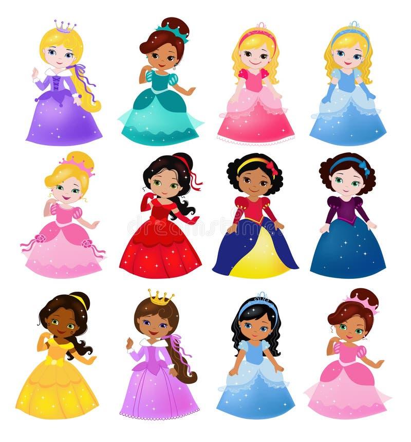 Dużego plika śliczna kolekcja piękni princesses