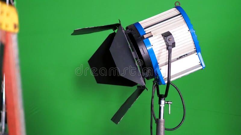 Dużego studia DOWODZONY światło reflektorów dla wideo produkci fotografia stock