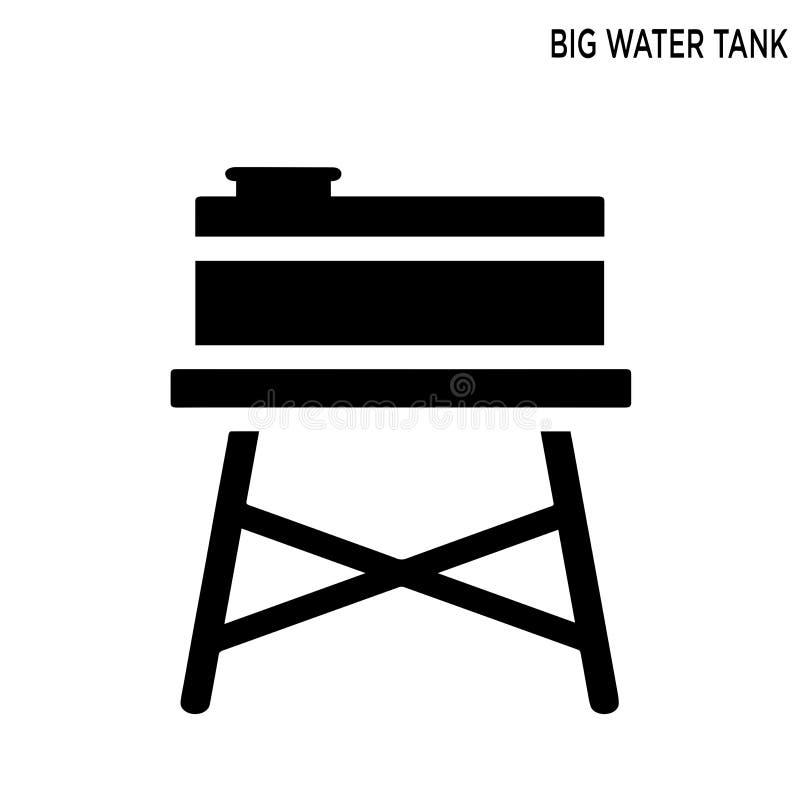 Dużego zbiornika wodnego editable ikona ilustracji
