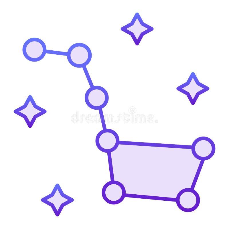 Dużej chochli mieszkania ikona Gwiazdozbioru Ursa Ważne fiołkowe ikony w modnym mieszkaniu projektują Gwiazda gradientu stylu pro ilustracji