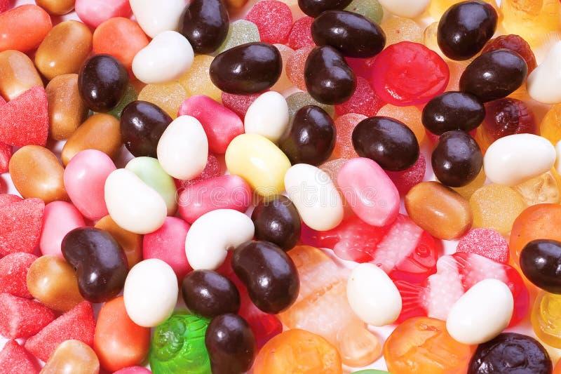 dużej cukierek kolekci barwiona fotografia fotografia stock