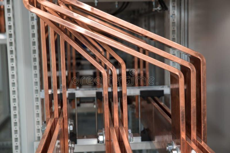 Dużej Mocy elektryczna deska z miedzianymi barami obrazy stock