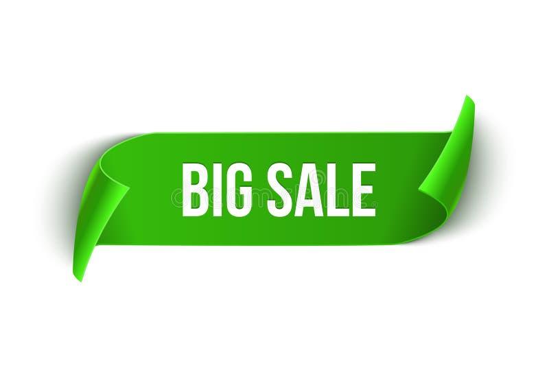 Dużej sprzedaży projekta wektorowy tasiemkowy szablon Sztandar sprzedaży etykietka Targowa specjalnej oferty rabata etykietka ilustracji