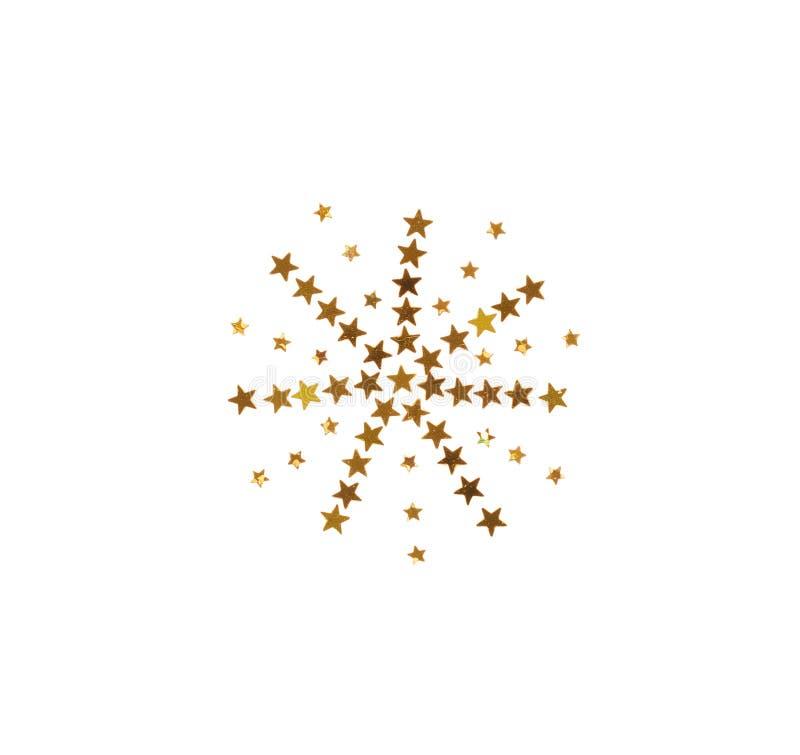 Dużo błyska i kłaść out w formie snowf grają główna rolę confetti zdjęcia royalty free