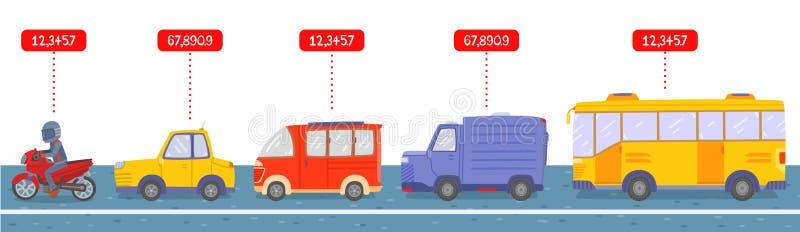 Dużo typ pojazd na drodze zdjęcie royalty free