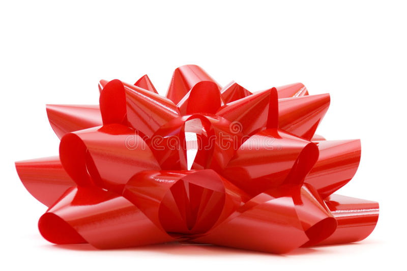 duży łęku bożych narodzeń czerwony biel zdjęcia royalty free