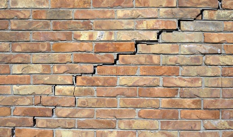 Duży ściany pęknięcie zdjęcie royalty free