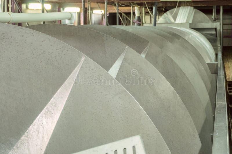 Duży śrubowy konwejer obrazy stock