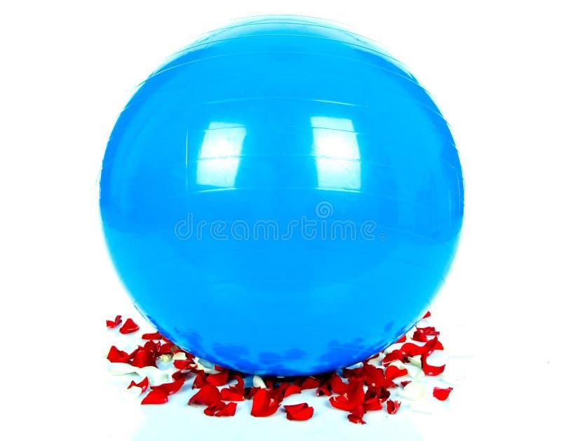Duży błękitny piłka fotografia royalty free