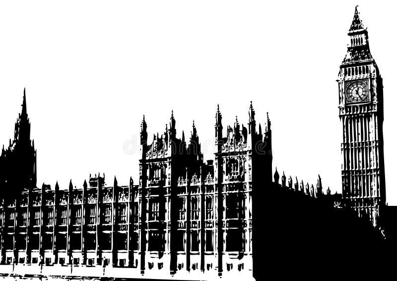 duży ben London wielkiej brytanii ilustracji