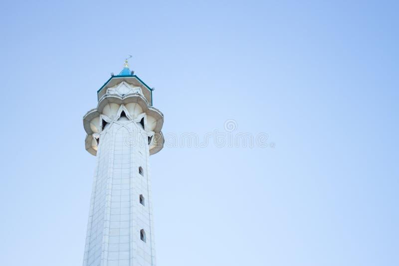 duży biały meczet fotografia stock