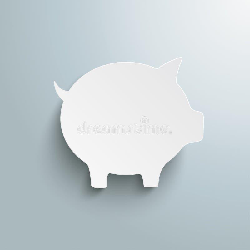 Duży Biały prosiątko bank PiAd royalty ilustracja