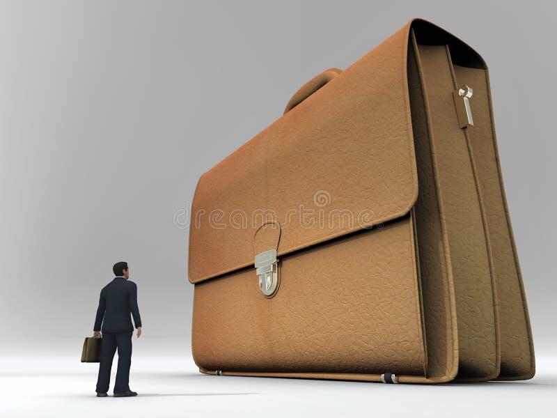 duży biznesmena skrzynka ilustracja wektor