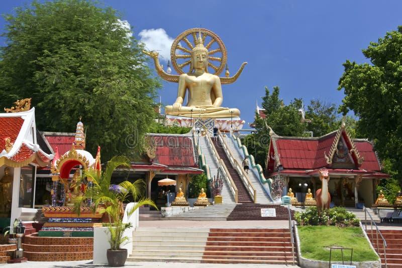 Duży Buddha ko świątynny samui Thailand fotografia royalty free