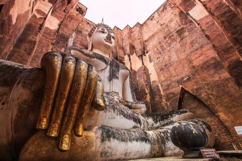 Duży Buddha przy Sukhothai dziejowym parkiem, Tajlandia zdjęcie royalty free