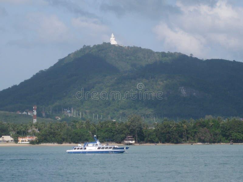Duży Buddha w Phuket lub duży Buddha, gdy dzwonią je, obraz royalty free