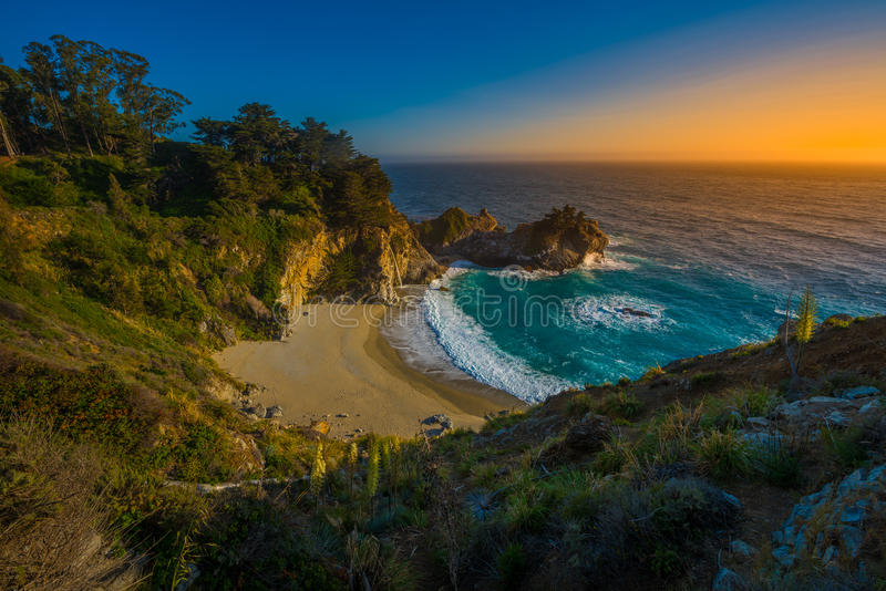 duży California spadać mcway sur obraz stock