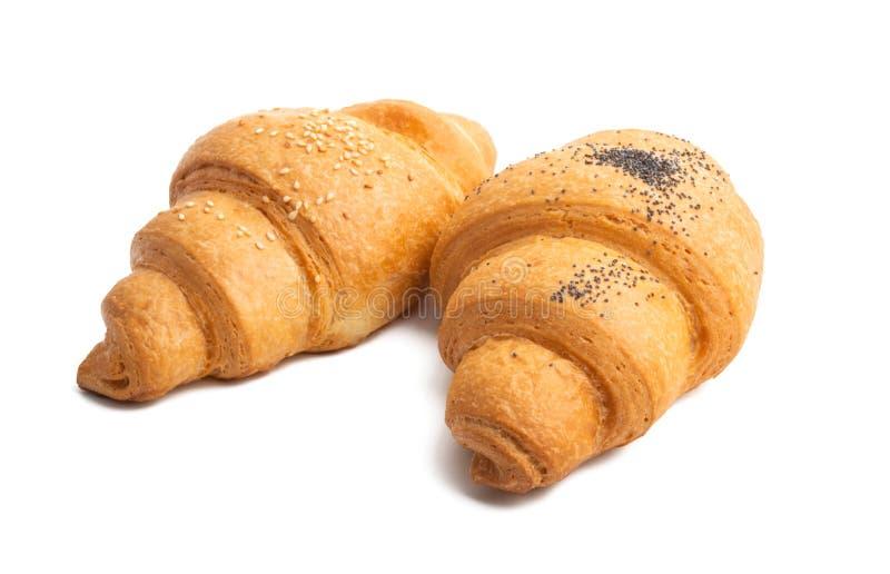 Duży croissant odizolowywający zdjęcia royalty free