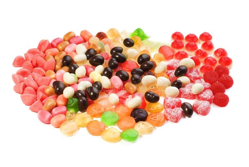 duży cukierków kolekci barwiona fotografia zdjęcie stock
