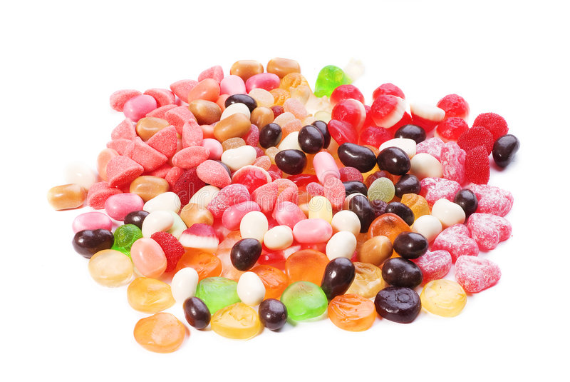 duży cukierków kolekci barwiona fotografia zdjęcie royalty free