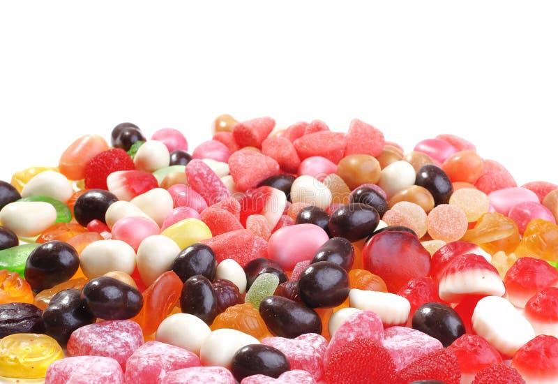 duży cukierków kolekci barwiona fotografia zdjęcia stock
