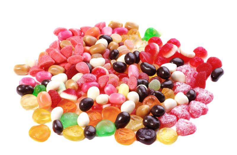 duży cukierków kolekci barwiona fotografia fotografia royalty free