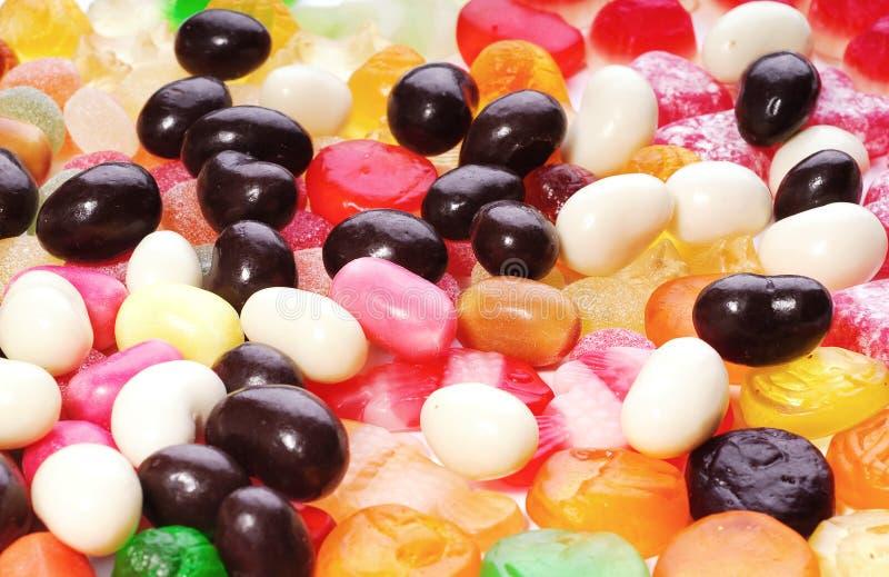 duży cukierków kolekci barwiona fotografia obraz stock