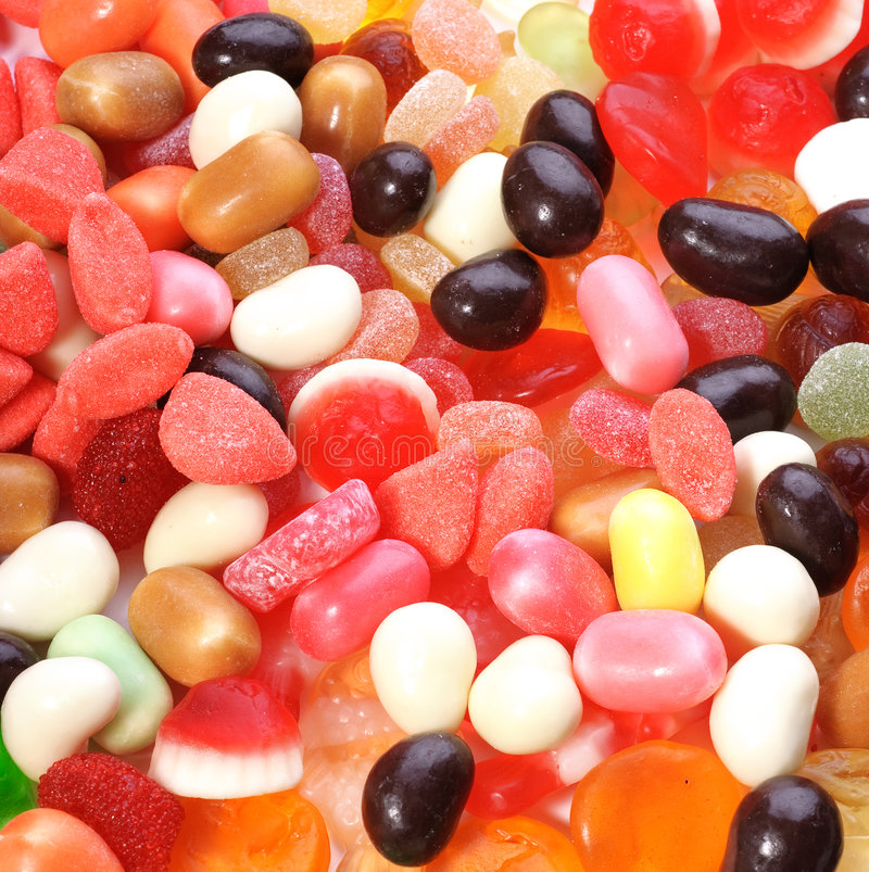 duży cukierków kolekci barwiona fotografia obrazy stock