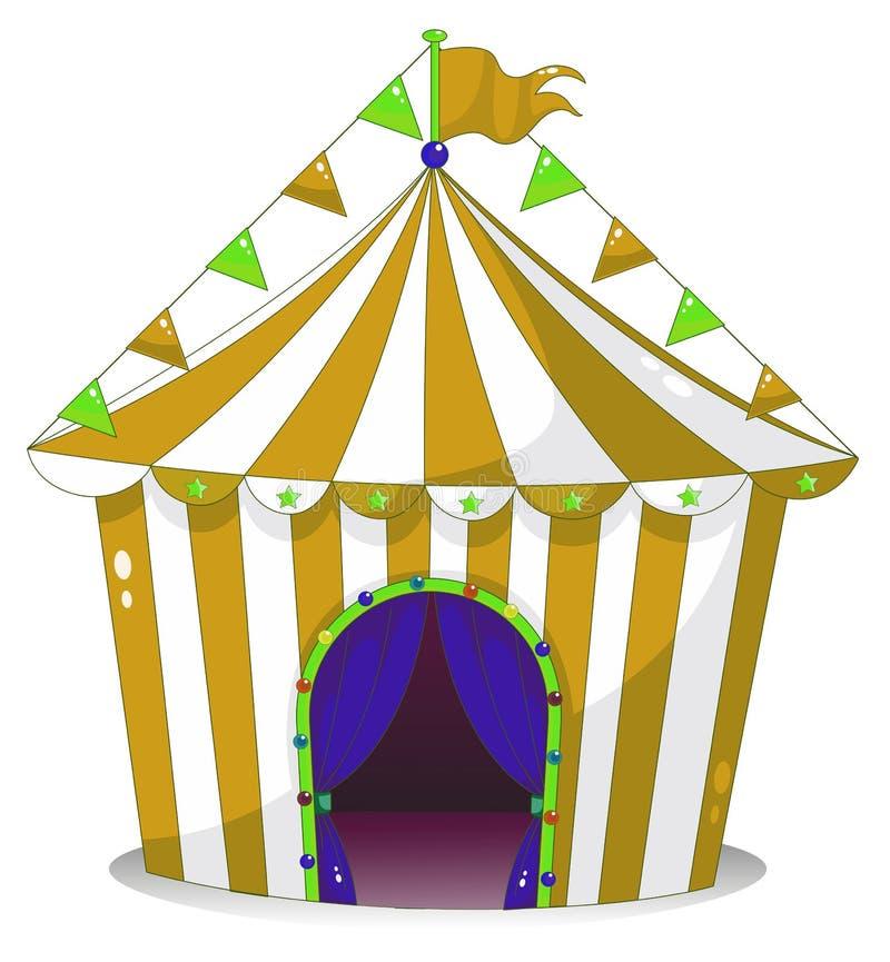 Duży cyrkowy namiot ilustracja wektor