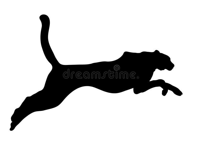 duży czarny kot royalty ilustracja