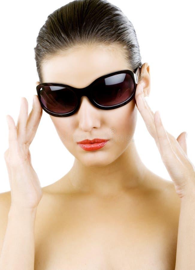 duży czarny mody okularów przeciwsłoneczne kobiety potomstwa obraz stock