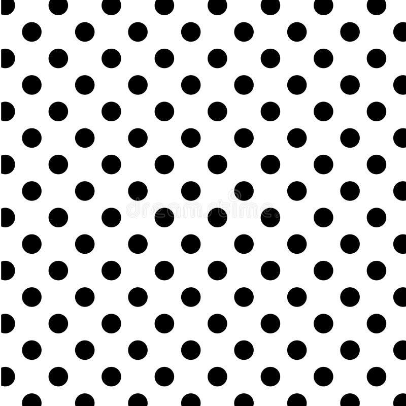 duży czerń kropkuje bezszwowego polka biel royalty ilustracja