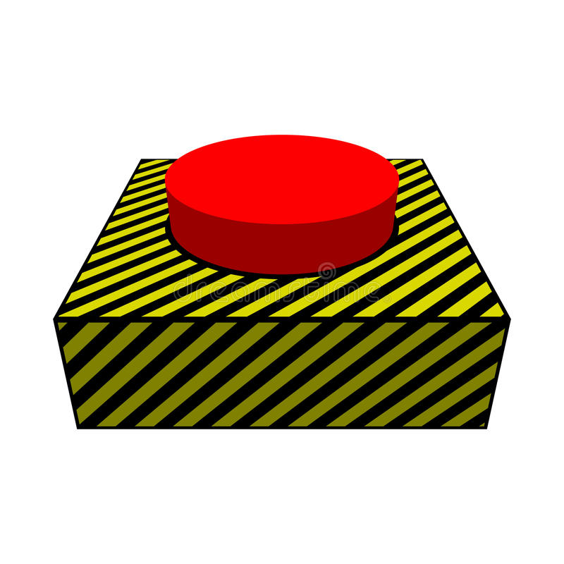 Duży czerwony guzik fotografia stock