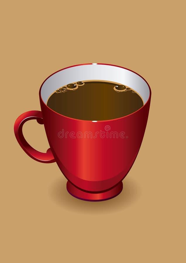 Duży czerwony kawowy kubek zdjęcie royalty free