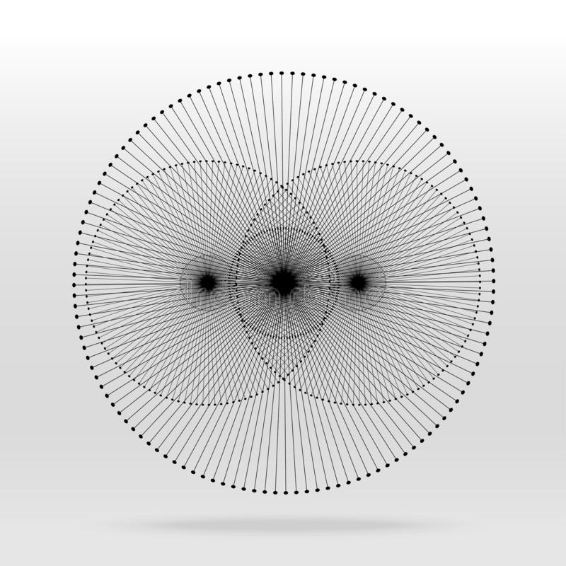 Duży dane techniki tło royalty ilustracja