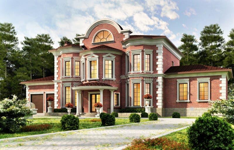 Duży dom w klasyka stylu fotografia stock