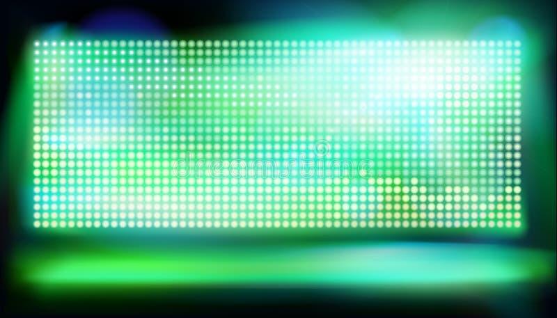 Duży dowodzony projekcyjny ekran również zwrócić corel ilustracji wektora ilustracja wektor
